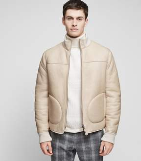 Reiss Crowdall Shearling Bomber Coat