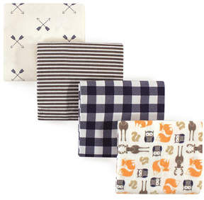 Hudson Baby Forest Flannel Receiving Blankets - Set of Four
