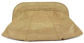 Lauren Merkin Tan & Gold Sparkly Clutch
