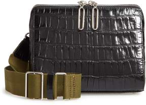 3.1 Phillip Lim Ray Triangle Croc Embossed Leather Crossbody Bag