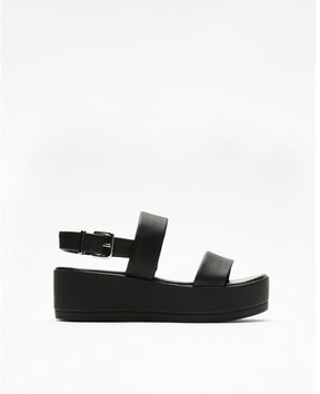 Express two band stretch wedge sandals