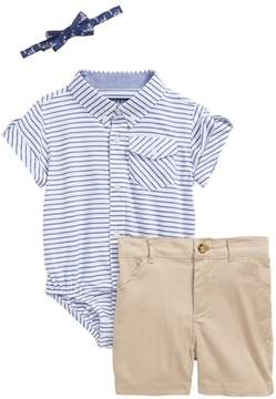Andy & Evan Shirtzie, Bow Tie & Shorts Set