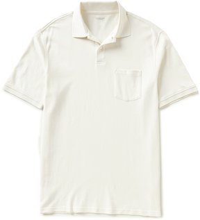 Roundtree & Yorke Big & Tall Silky Finish Solid Polo Shirt with Pocket