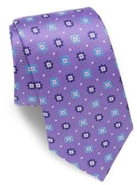 Eton Floral Motif Silk Tie