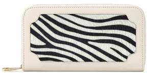 Aspinal of London | Marylebone Purse In Smooth Ivory Zebra Haircalf | Ivory zebra haircalf