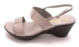 Callisto Womens Minaa Suede Open Toe Casual Slingback Sandals.
