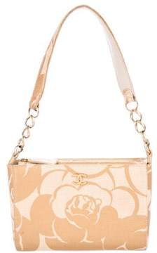 Chanel Camelia Straw Shoulder Bag