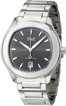 Piaget Polo S Automatic Grey Guilloche Dial Men's Watch