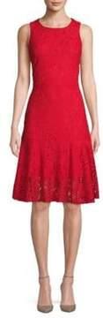 ABS by Allen Schwartz Floral Lace A-Line Dress
