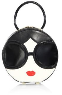 Alice + Olivia Stace Face Circle Leather Handbag