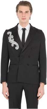Christian Pellizzari Embellished Patch Wool Evening Jacket