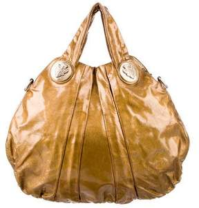 Gucci Patent Large Hysteria Bag - GOLD - STYLE
