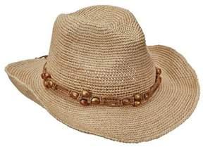 Scala Women's LR695OS Fine Pinch Cowboy Hat with Bead