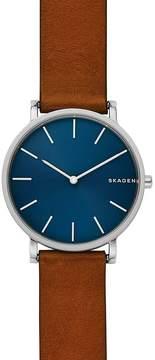 Skagen Hagen Slim Brown Leather Watch