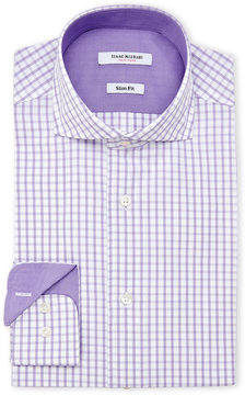 Isaac Mizrahi Purple Slim Fit Check Dress Shirt