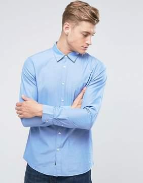 Jack Wills Salcombe End On End Regular Fit Shirt In Sky Blue