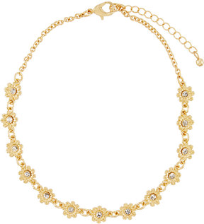 Fragments for Neiman Marcus Flower Crystal Choker Necklace, Golden