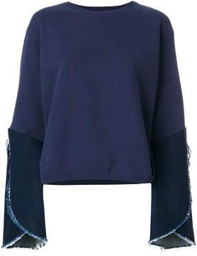 Each X Other Hybrid denim sleeve sweatshirt