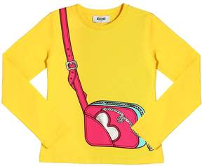 Moschino Bag Printed Cotton Jersey T-Shirt