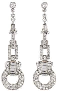 Ben-Amun Pave Crystal Deco Drop Earrings