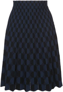 Akris Punto geometric pattern skirt