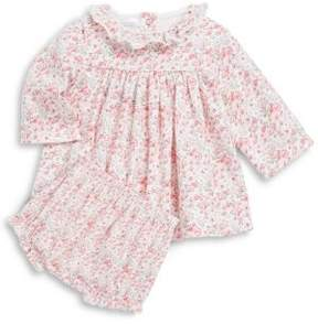 Petit Bateau Baby's Floral-Print Dress & Bloomer Set