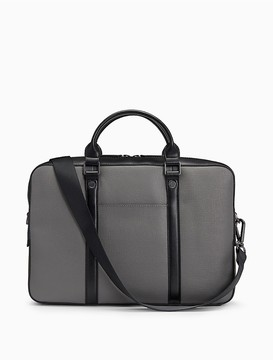 Calvin Klein Saffiano Leather Single Compartment Commuter Bag