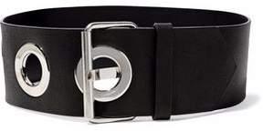 Maison Margiela Eyelet-Embellished Leather Belt