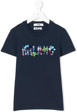 MSGM embroidered Slang T-shirt