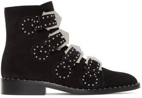 Givenchy Black Suede Elegant Line Boots