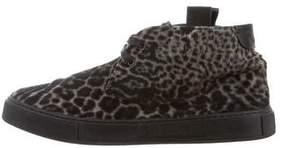 Saint Laurent Ponyhair Animal Print Sneakers