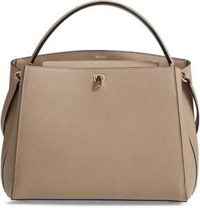 Valextra Medium Brera Leather Top Handle Bag