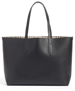 Burberry Medium Lavenby Reversible Calfskin Leather Tote - Black - BEIGE - STYLE