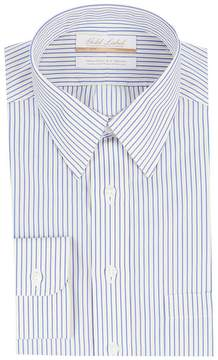 Roundtree & Yorke Gold Label Non-Iron Full Fit Point Collar Striped Dress Shirt