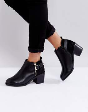 Office Academy Buckle Ankle Boots