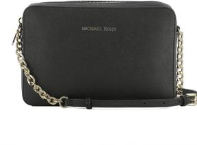 Michael Kors Black Leather Shoulder Bag - BLACK - STYLE