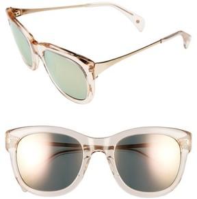 Salt Women's Billingsley 53Mm Polarized Rectangular Sunglasses - Melon/ Rose Mirror