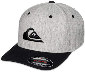 Quiksilver Men's Mountain and Wave Embroidered-Logo Flexfit Hat