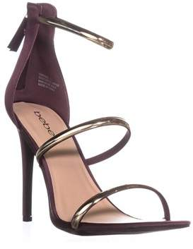 Bebe Berdine Strappy Dress Sandals, Wine Satin.