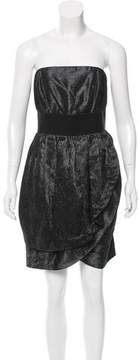 Adam Metallic-Accented Gathered Dress w/ Tags