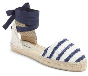 Manebi Women's Paris Lace-Up Espadrille Sandal