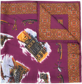 Golden Goose Deluxe Brand embroidered square scarf
