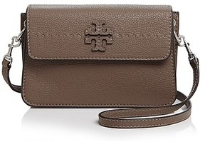 Tory Burch McGraw Leather Crossbody - BLACK/GOLD - STYLE