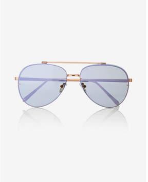 Express semi-transparent rimless aviator sunglasses