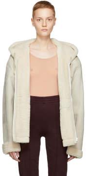 Yeezy Ivory Short Shearling Jacket