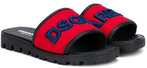 DSQUARED2 logo strap slides