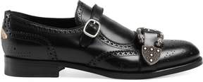 Monk strap shoe with brogueing