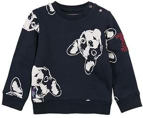 Catimini Navy Dog Button-Accent Sweater - Boys