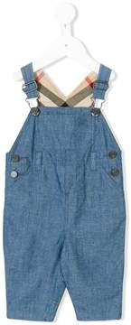 Burberry house check lined dungarees
