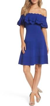 Eliza J Women's Off The Shoulder Fit & Flare Dress